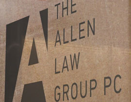 The Allen Law Group Office Sign